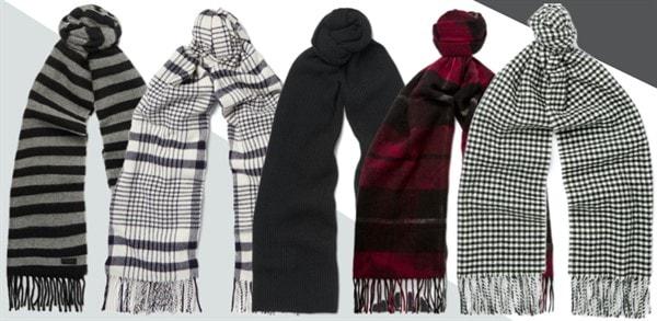 Цвет и узор мужского шарфа
