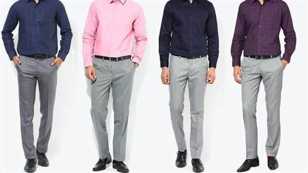 Серые брюки мужские