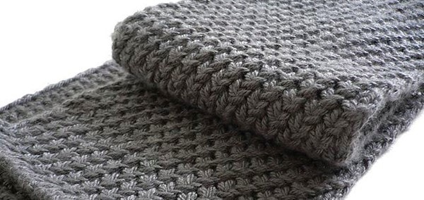 Ткань мужского шарфа