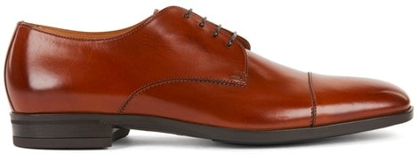 Derby shoes in vegetable-tanned leather by Hugo Boss