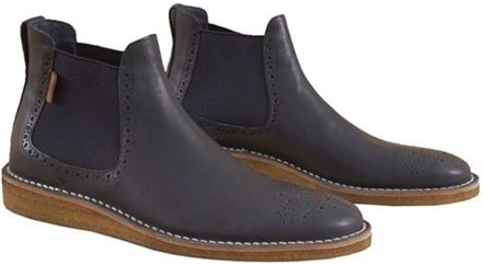 Leather Chelsea boots in navy by Burberry