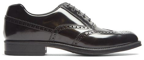 Lace-up leather brogues by Prada
